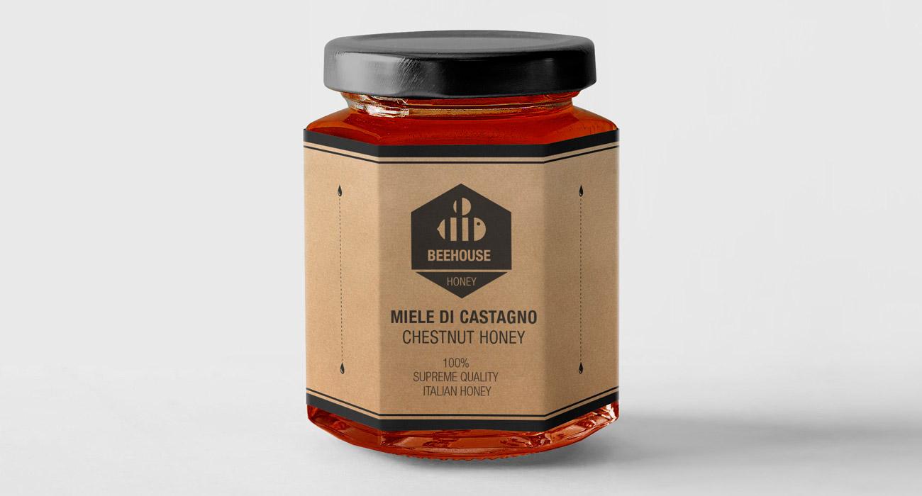 Etichetta design_miele castagno